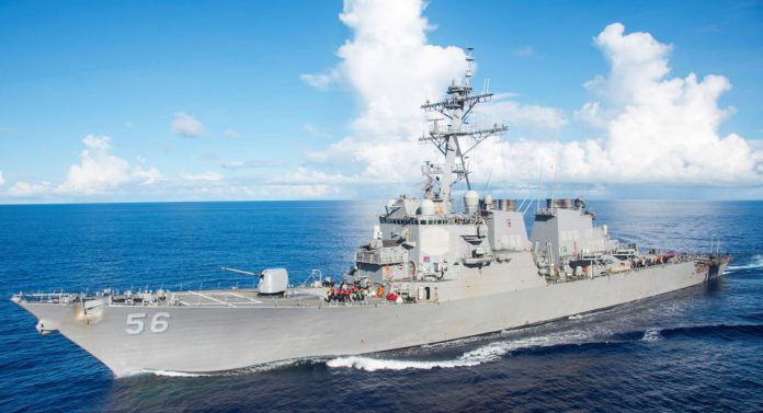 US destroyer collides with merchant vessel east of Singapore: US navy