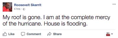 skerrit facebook hurricane flooding dominica