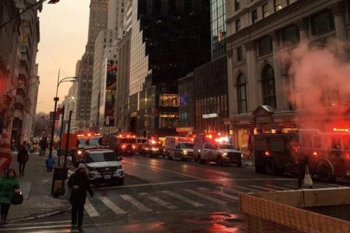 Part of Trump Tower in Midtown Manhattan catches fire