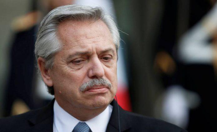 El presidente de Argentina, Alberto Fernandez