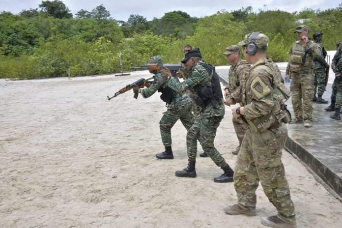 US Military forces teaching new skills to the Guyanese defence forces